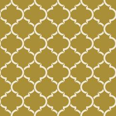 golden quatrefoil pattern