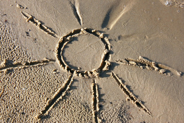 Picture on sand