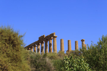 Greek Temple of Juno in Agrigento - Sicily, Italy
