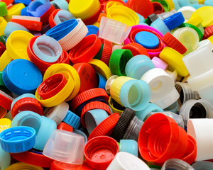 some of recyclable, plastic caps