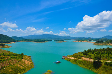 Ham Thuan lake, a destination near Dalat city with coffee garden