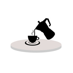 cup of hot tea black vector
