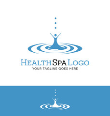 logo design for a spa or health related business. drop of water with abstract figure.