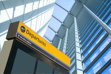 Fototapete - Airport Departure & Arrival information sign..
