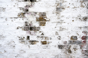 dirty brick wall, grungy red, white & grey texture background