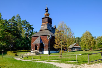 Old traditional Slovak wooden church, Stara Lubovna, Slovakia