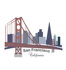 San Francisco California label logo icon sticker