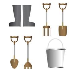 Graden tools silver and dark gold color