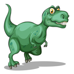 Green tyrannosaurus rex standing