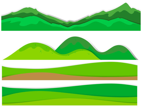 Different view of mountains