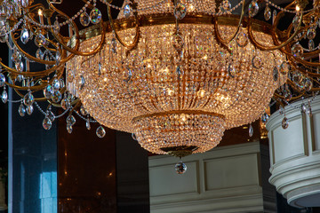Large chandelier on ceiling