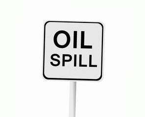 oil spill sign isolated on white background