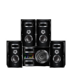 sound system, audio speakers, loudspeaker