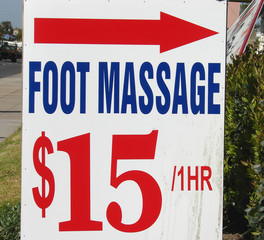 foot massage sign