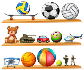 Ball set and other toys