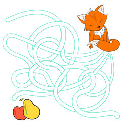Layout for game labyrinth find a way fox