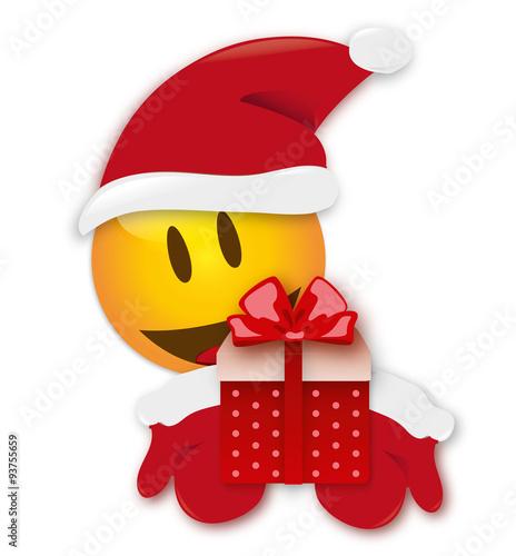 weihnachten smiley geschenk stockfotos und lizenzfreie. Black Bedroom Furniture Sets. Home Design Ideas
