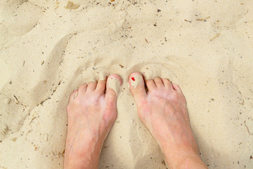 Wall Mural - feet on the sand