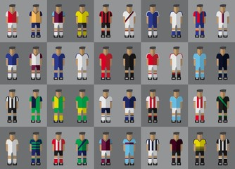 English football team kit season 2015/2016