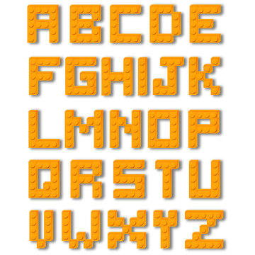 Set alfabeto mattoncini