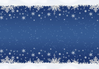Christmas background with snowflakes .