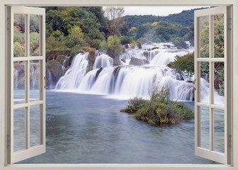 Open windw view to Krk falls