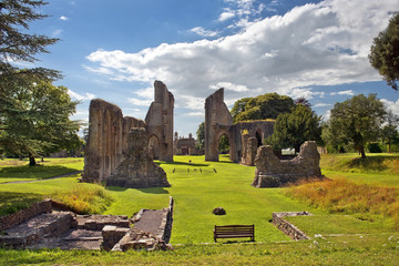 ruins of Glastonbury Abbey, Somerset, England