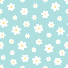 Abstract Seamless geometric floral pattern