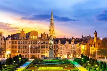 Keuken foto achterwand Brussel Brussels Cityscape Belgium