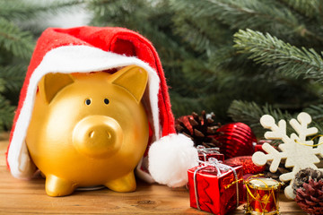 Piggy bank Christmas