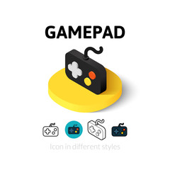 Gamepad icon in different style