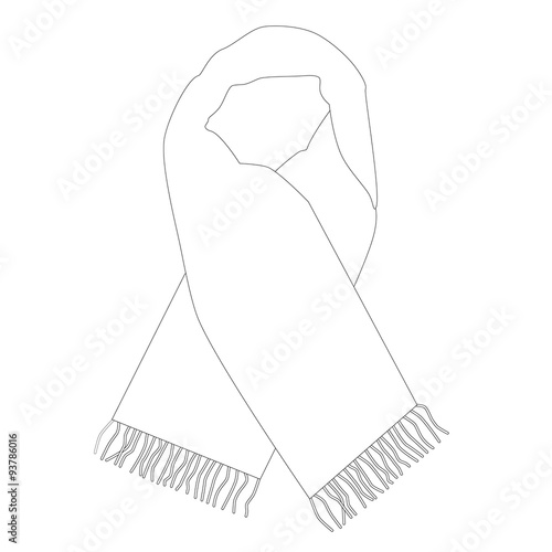 scarf outline drawing wiring diagrams \u2022white winter scarf outline drawings stock image and royalty free rh fotolia com hat outline scarf clip art