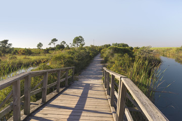 Wooden Footbridge Path at Fort Pickens