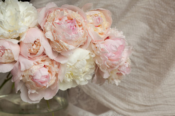 Bouquet of peonies in a vase