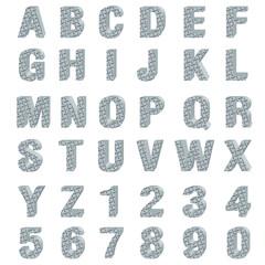 3d metal plate alphabet