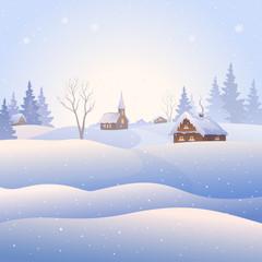 Snowscape square background