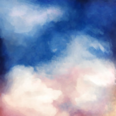 Dramatic Sky Painting Background