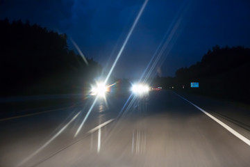 Photo sur Plexiglas Autoroute nuit night highway traffic
