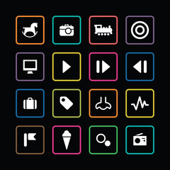 entertainment icons universal set