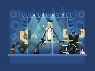 Rock band illustration