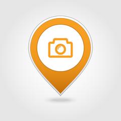 Photo Camera map pin icon