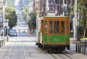 Authentic tram in Europe