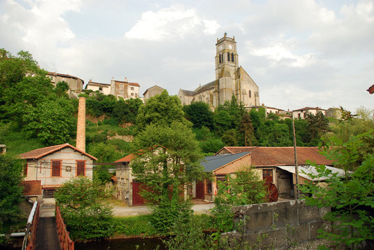 Bellac church in Haute Vienne