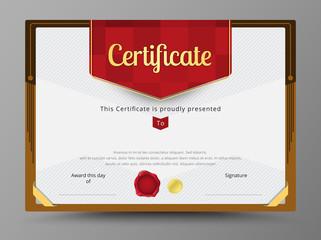 Certificate template, Diploma design, Border frame template. vec