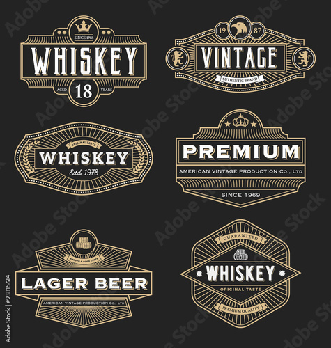 Quot Vintage Frame Design For Labels Banner Logo Emblem