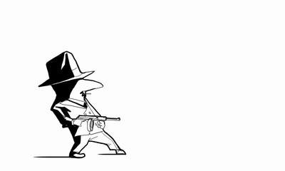 Gangster man. Concept image