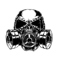 gas mask illustration
