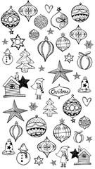 Hand drawn Christmas decoration pattern