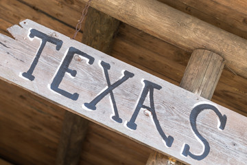 Wild west Texas old wooden sign