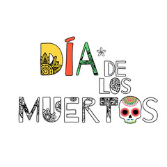 Dia de muertos Day of the dead background.